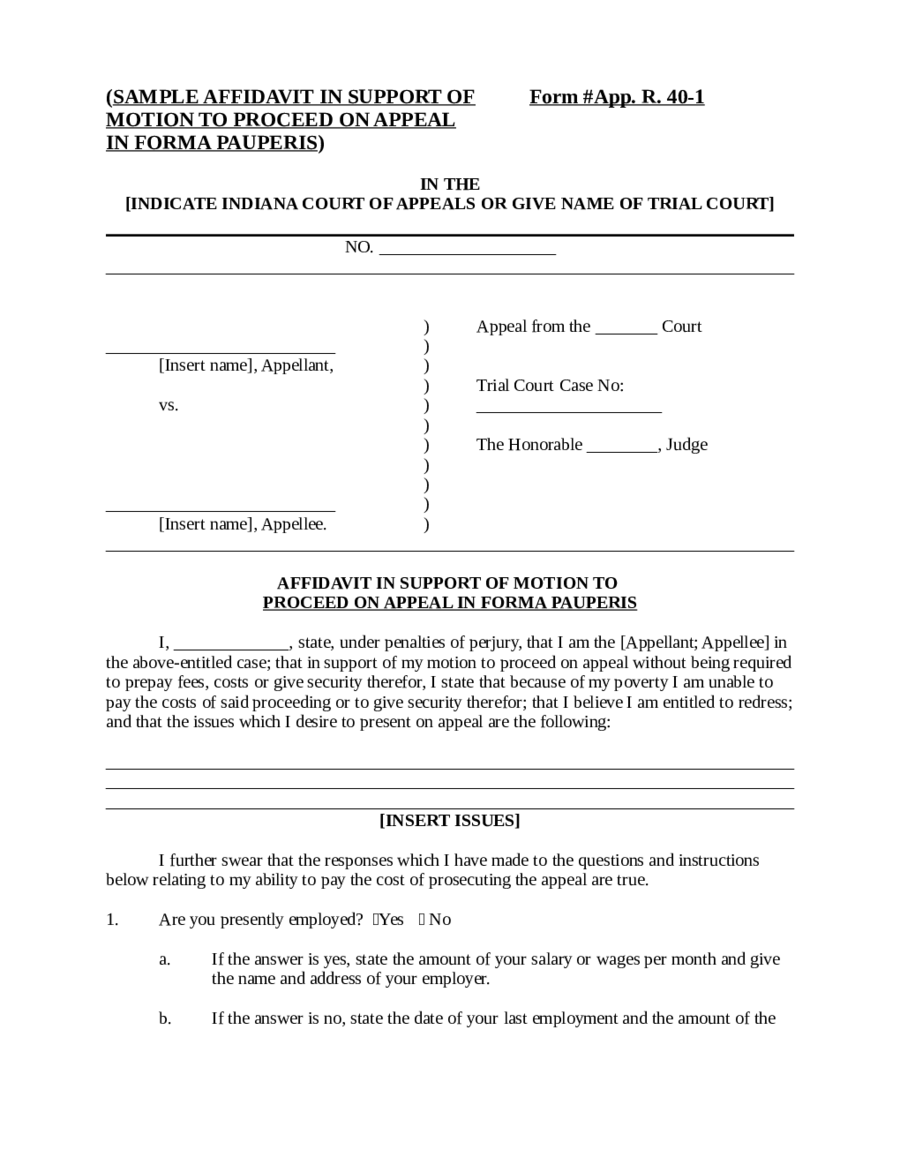 Affidavit Form Affidavit Definition – Signed Affidavit Template