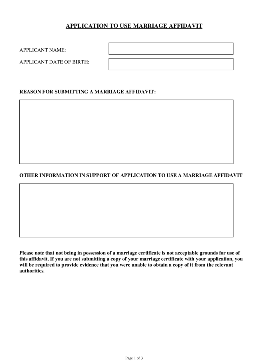 Affidavit Form Affidavit Definition – Printable Affidavit Form