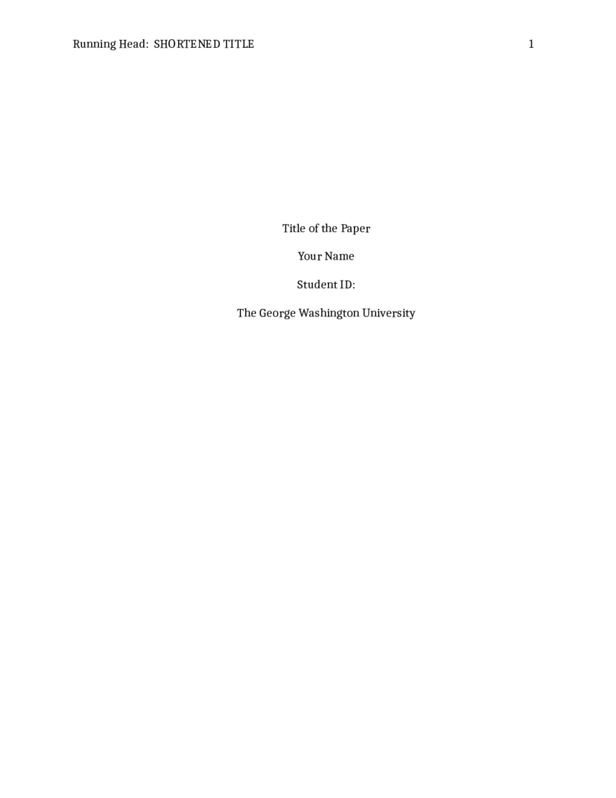 sample title page in apa format for research paper
