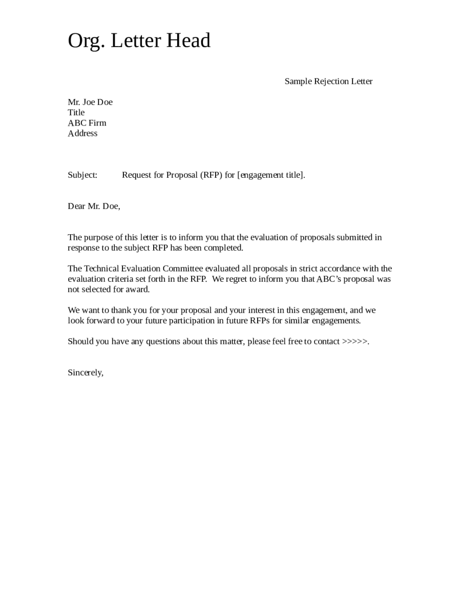 Doc511662 Sample Business Proposal Letter Business Proposal – Free Proposal Letter Template