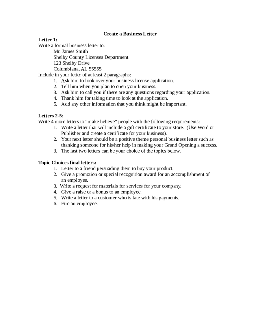 Business Proposal Letter Business Plan Template PDF and Word – Business Proposal Letter Format