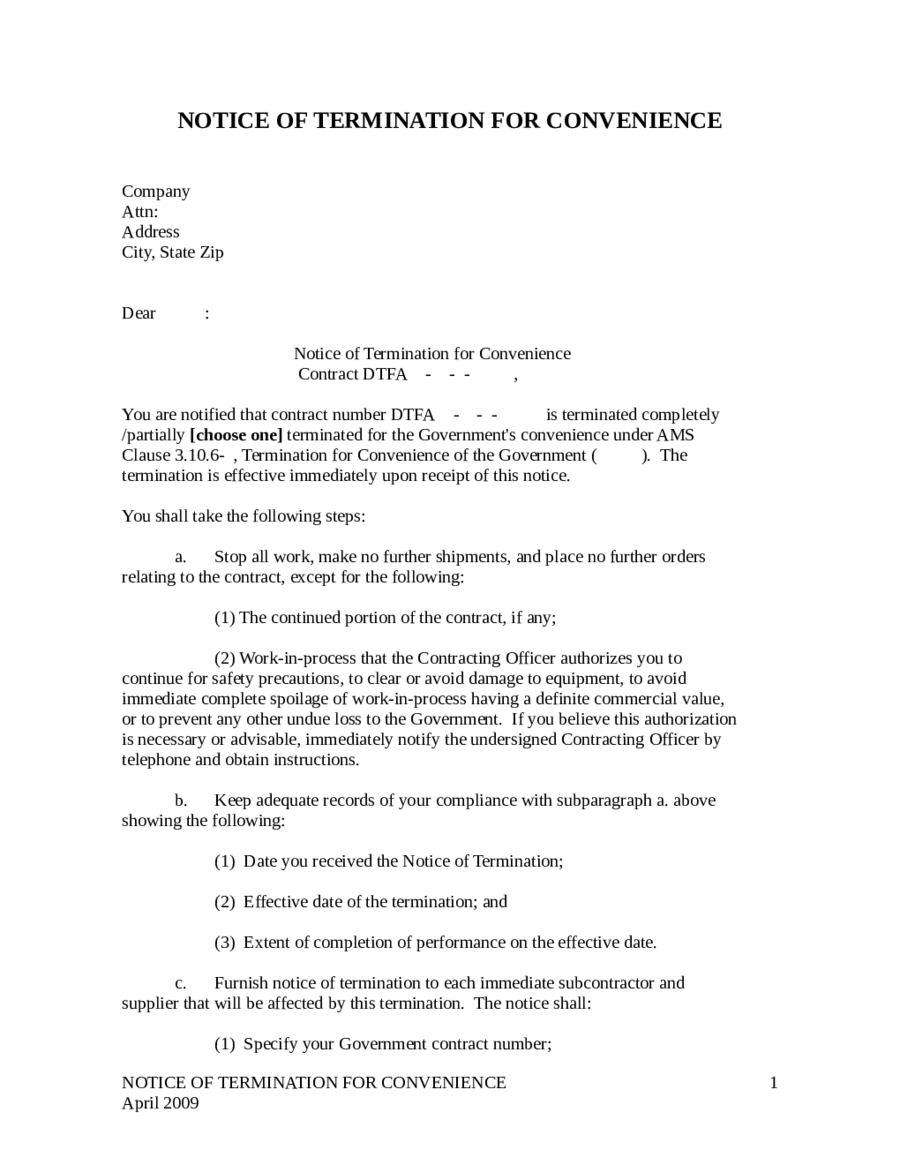 termination letter sample how to write termination letter contract termination letter 01