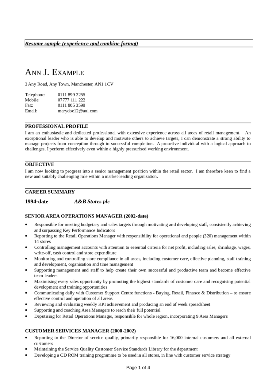 Customer Service Resume - Free Customer Service Resume Templates