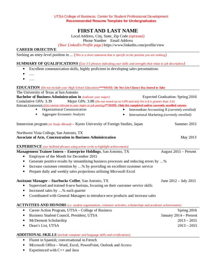 Language Levels On Resume  Template Resume Free