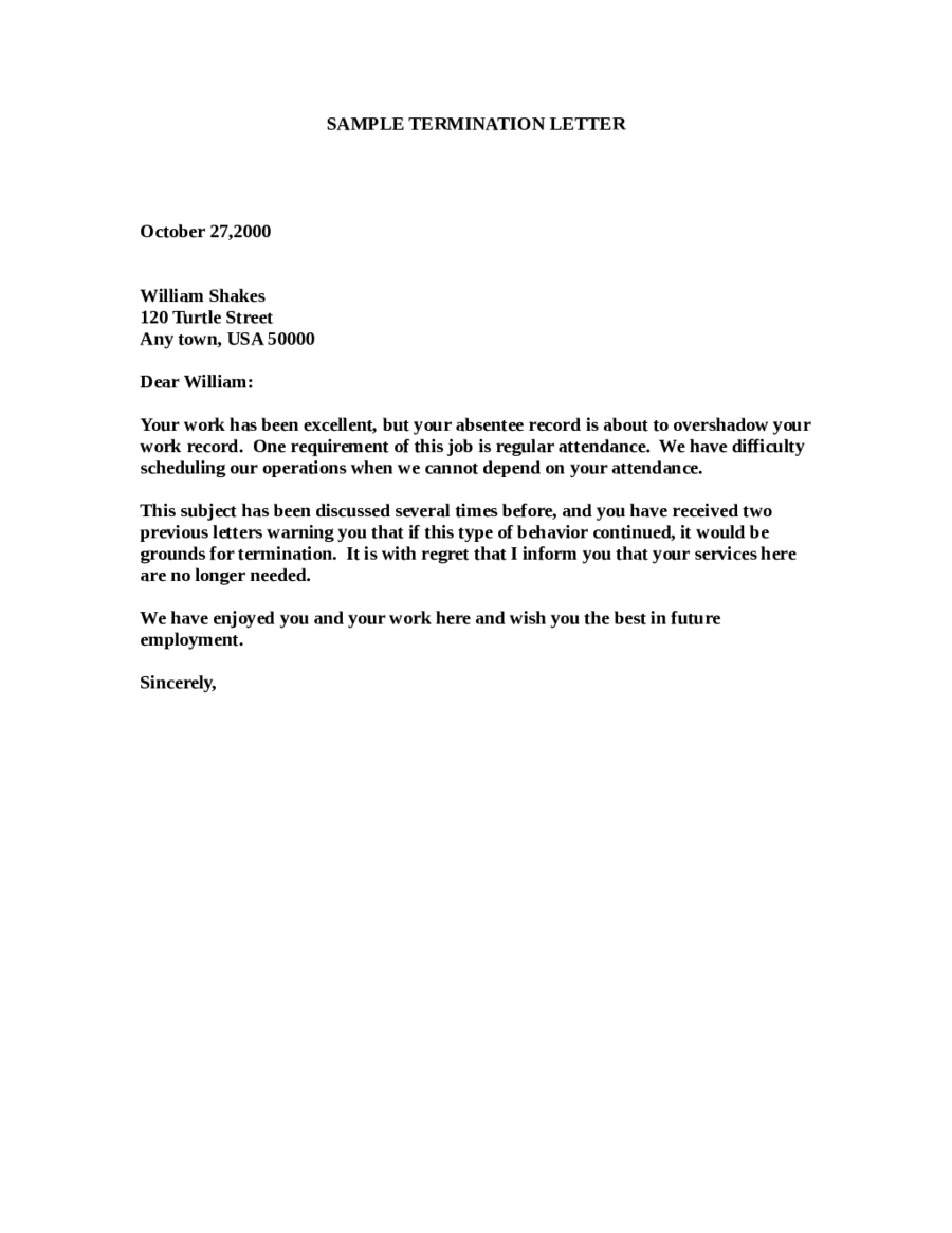 Sample Termination Letter Format lined paper for writing – Employee Working Certificate Format
