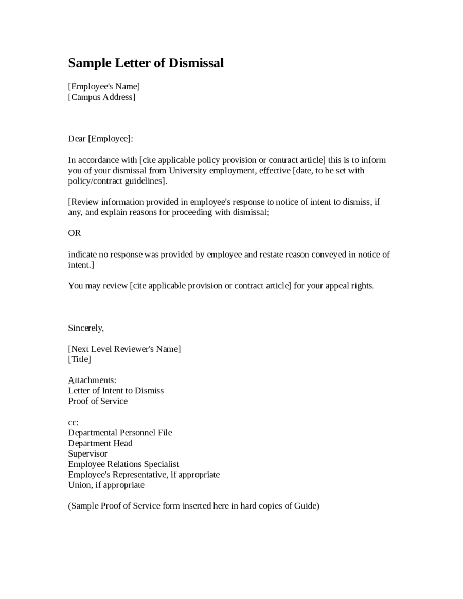 Job Termination Letter Termination Letter Sample How To Write