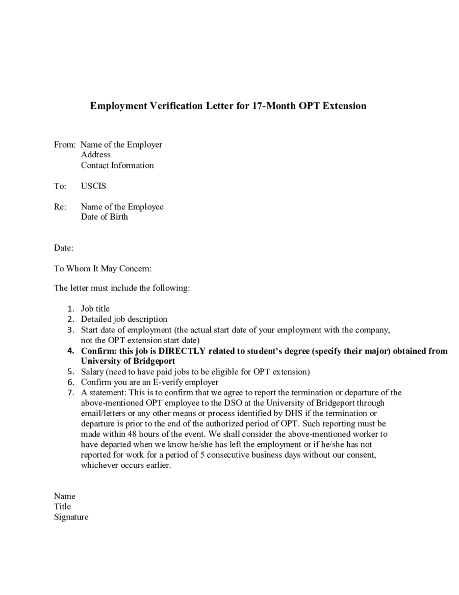 Proof of Employment Letter Sample Employment Verification Letter – Job Verification Letter