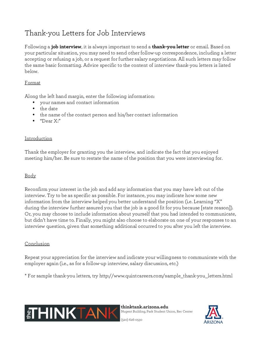 FollowUp Letter After Interview Follow Up Letter Sample – Follow Up Letters