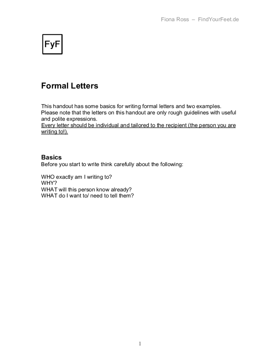 formal letter template how to write a formal letter formal letter example 04