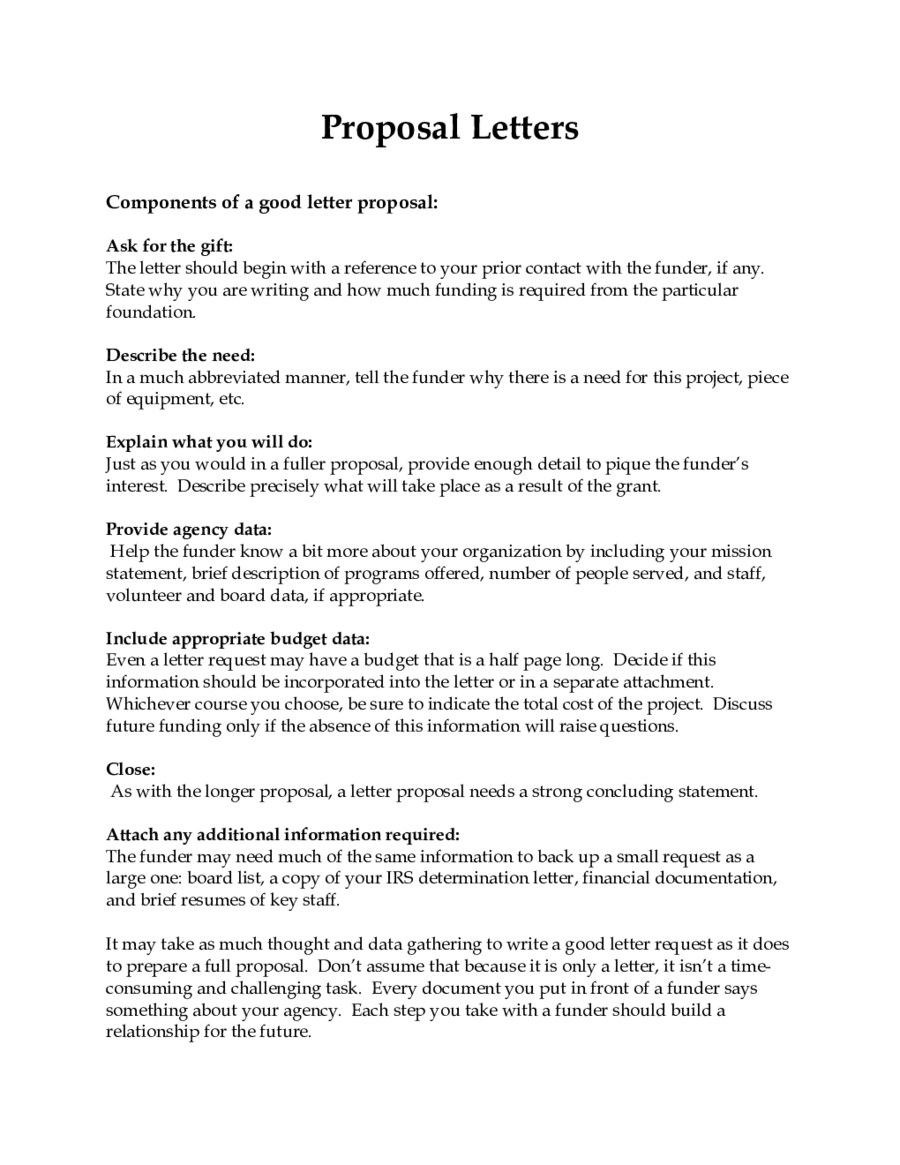 Business Proposal Letter Business Plan Template PDF and Word – Writing a Proposal Letter for a Project