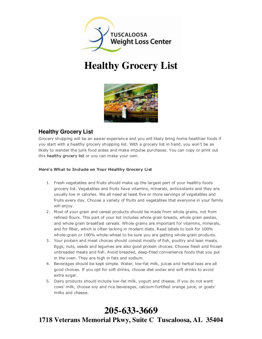 Healthy Grocery List 03