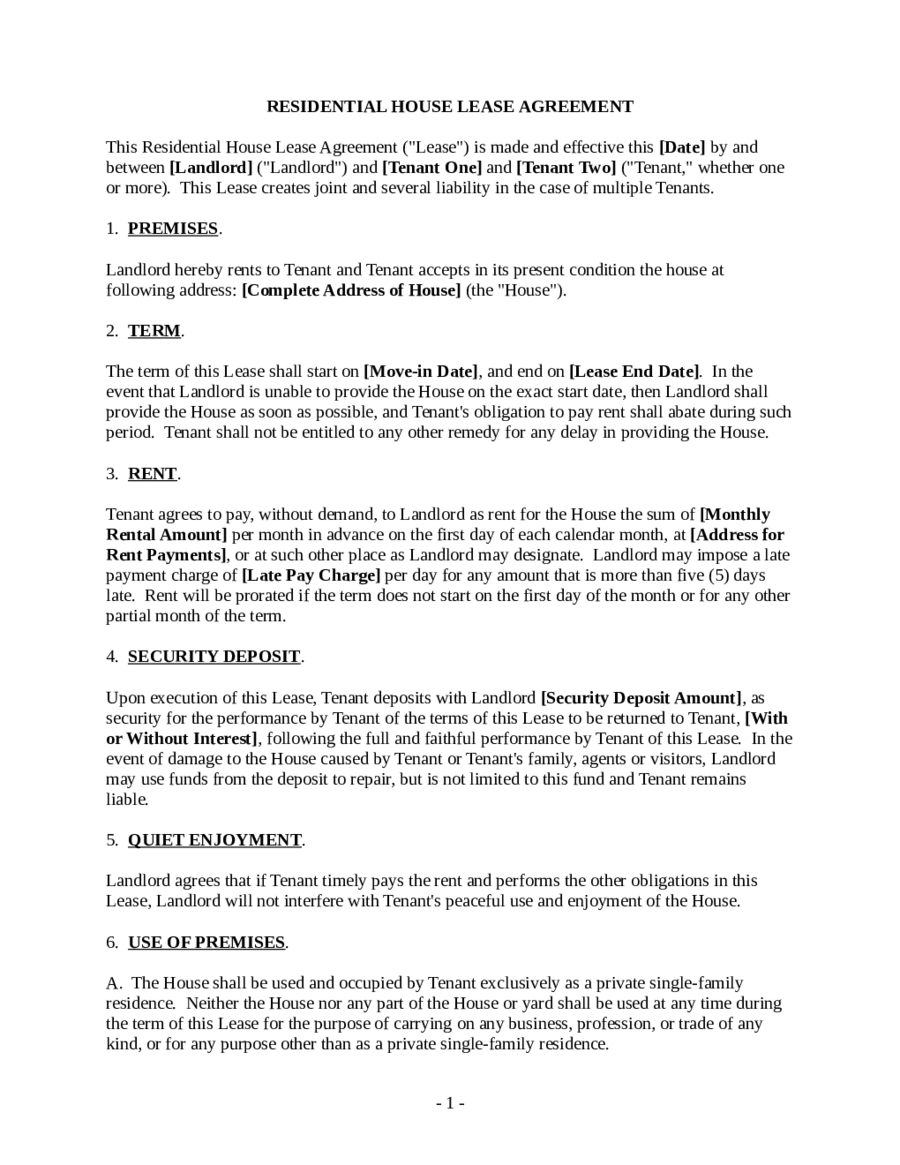 Lease Agreement Format 02