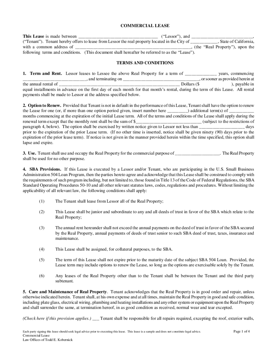 Lease Agreement Format 03