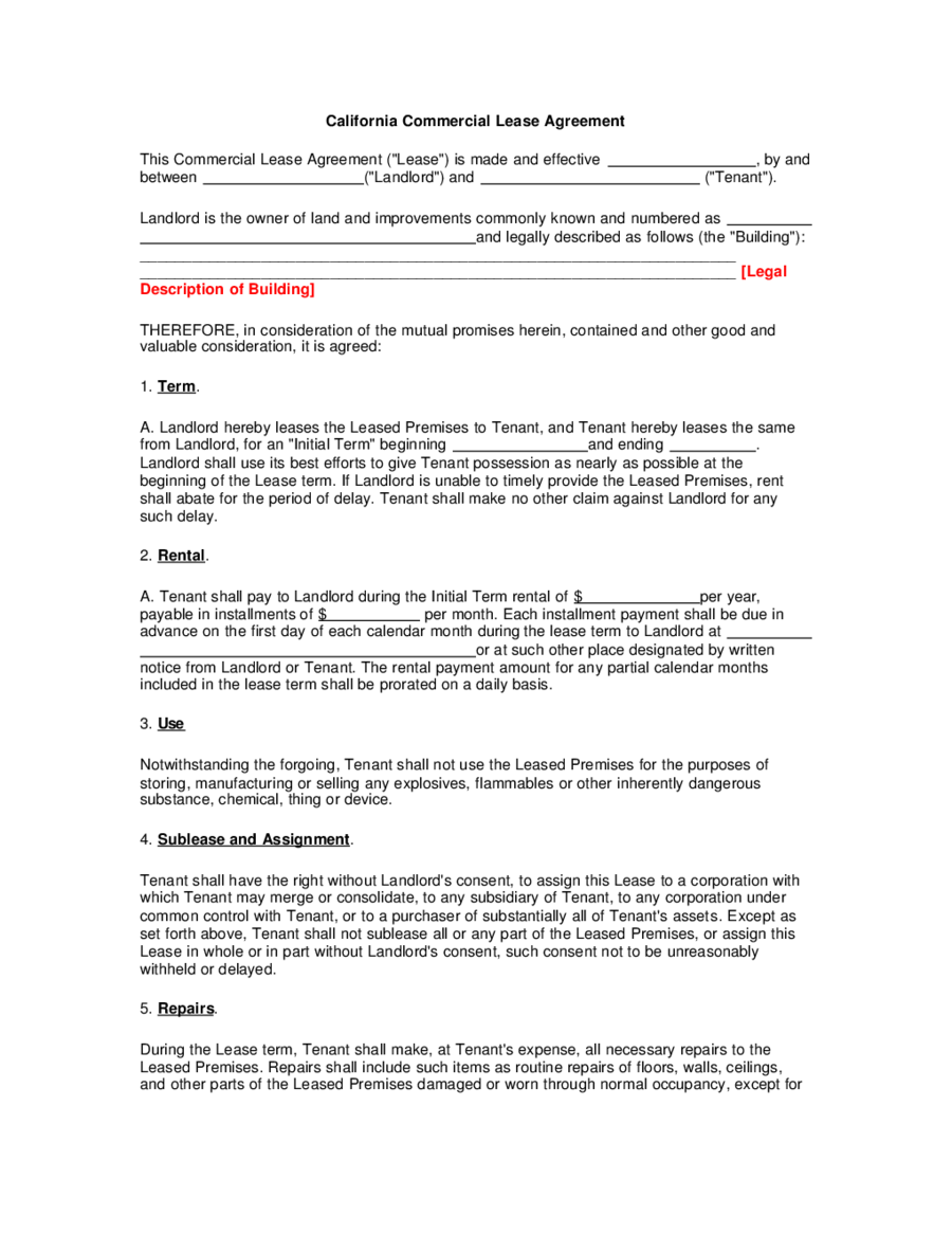 Lease Agreement Format 04