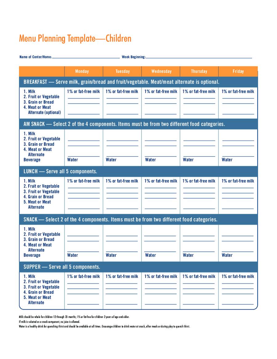 Menu Template Free Printable Menu Samples in PDF Word Excel – Lunch Menu Template Free