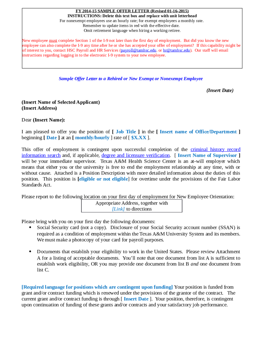 offer letter format offer letter sample offer letter format 03