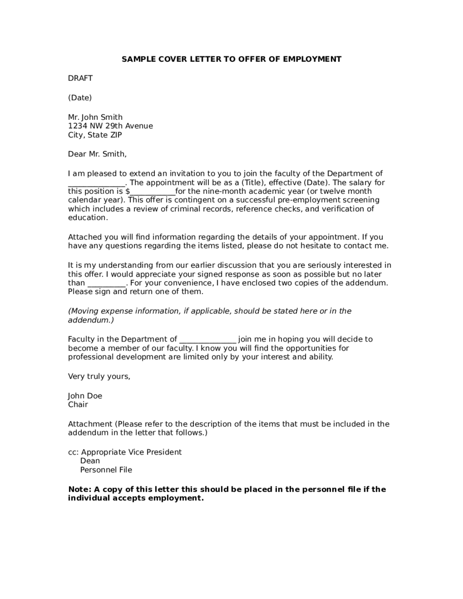 offer letter format offer letter sample offer letter template 04