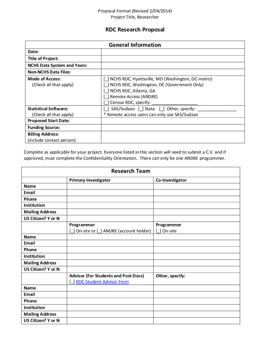 Project Proposal Template How to Write a Project Proposal – Template for Project Proposal