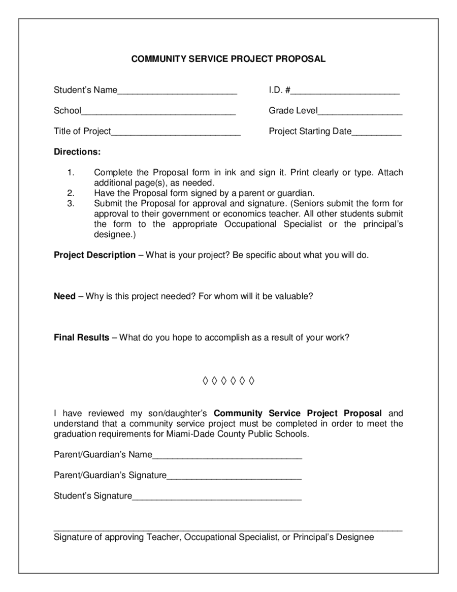 Project Proposal Template How to Write a Project Proposal – Project Proposal Sample