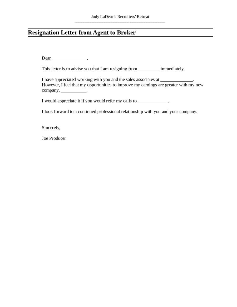 Resignation Letter Sample Resignation Letter Format – Sample of Professional Resignation Letter