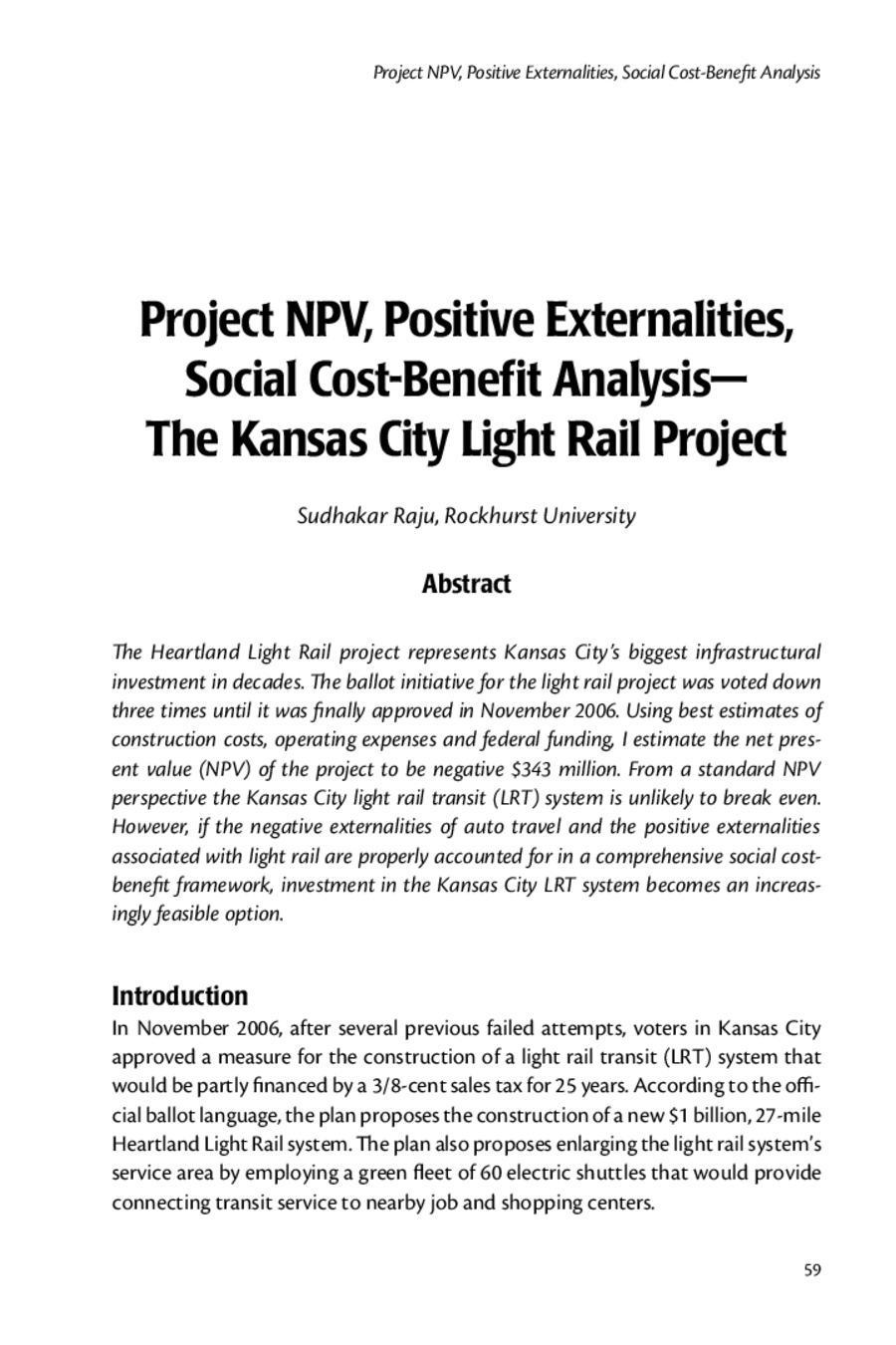 Social Cost Benefit Analysis 01