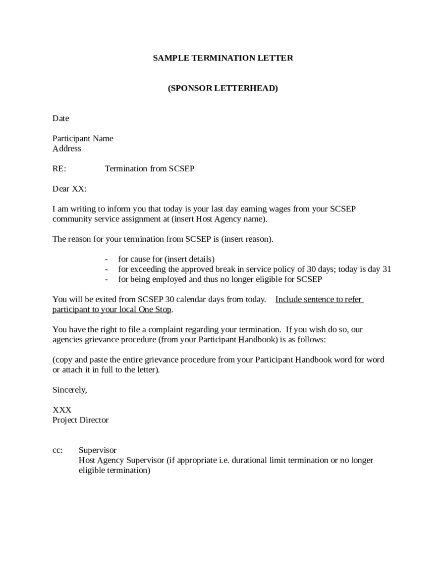 Termination Letter Sample How to Write Termination Letter – Sample Termination Letter Template