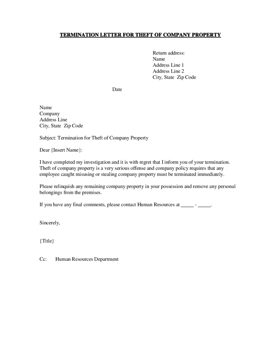 Termination Letter Sample How to Write Termination Letter – How to Write a Termination Letter to a Company