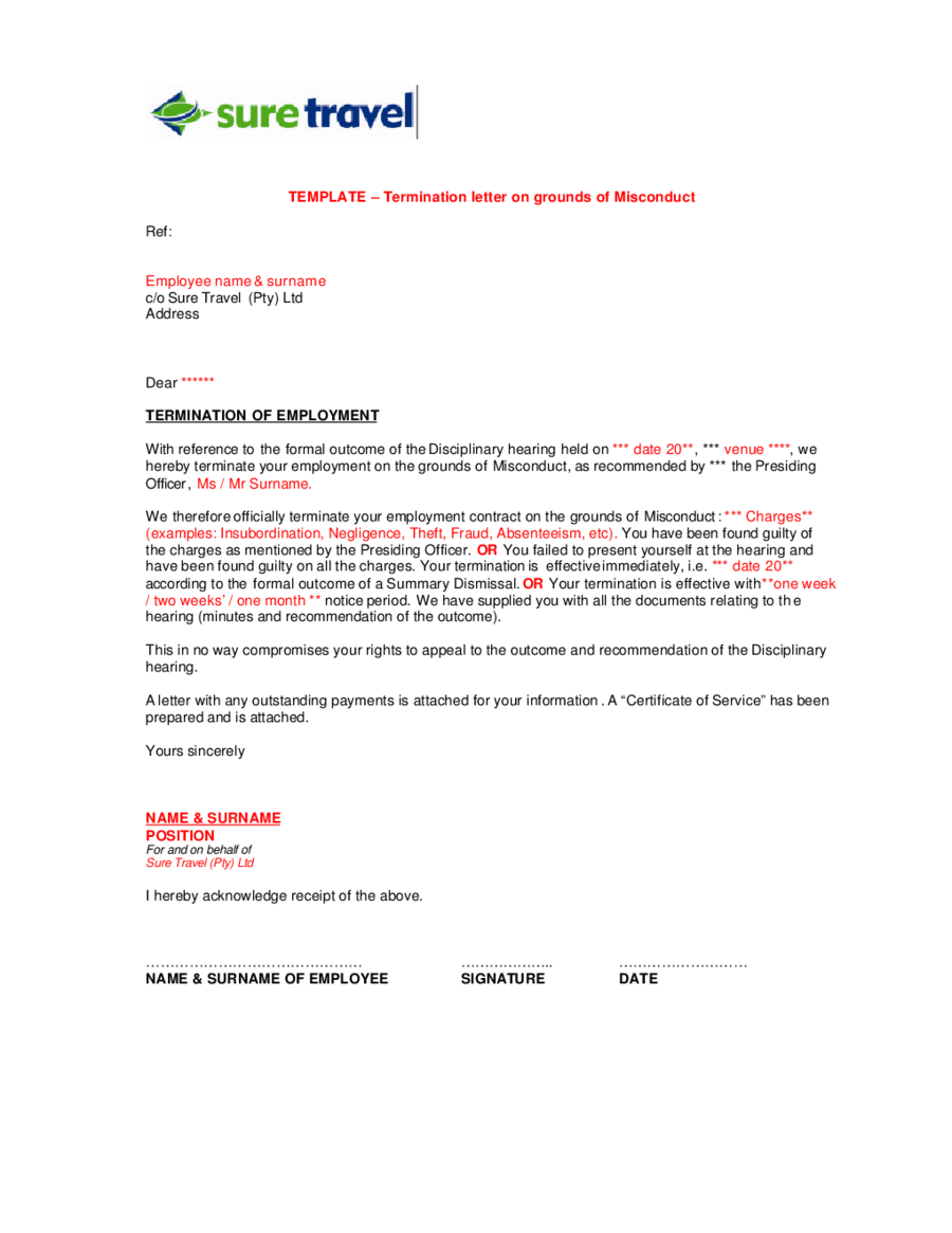 Termination Letter Sample How to Write Termination Letter – Terminate Contract Letter Template