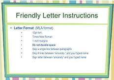 Friendly Letter Format