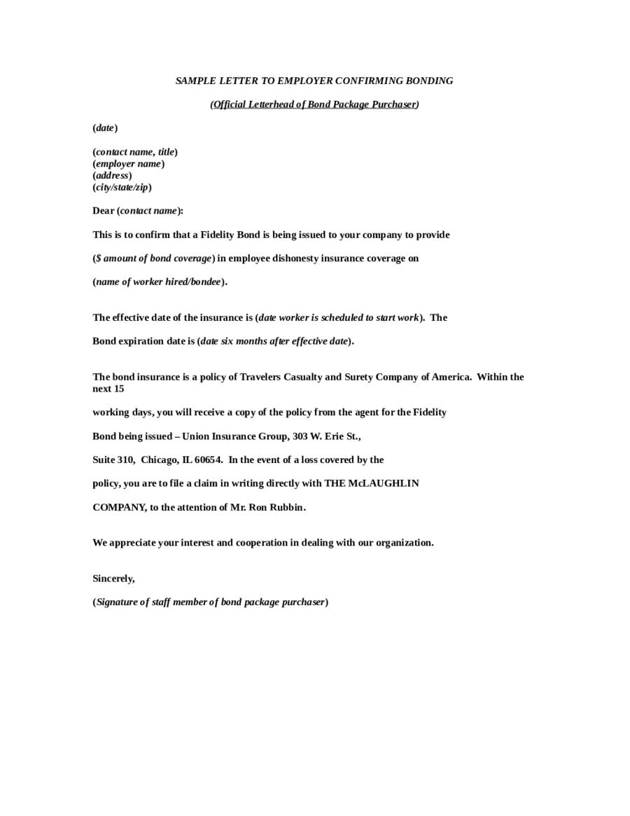 fer letter format Free fer Letter Sample